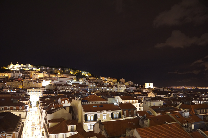 View from the platform, Elevador de Santa Justa