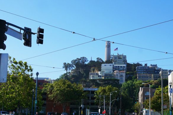 View of the Coit Tower, San Francisco