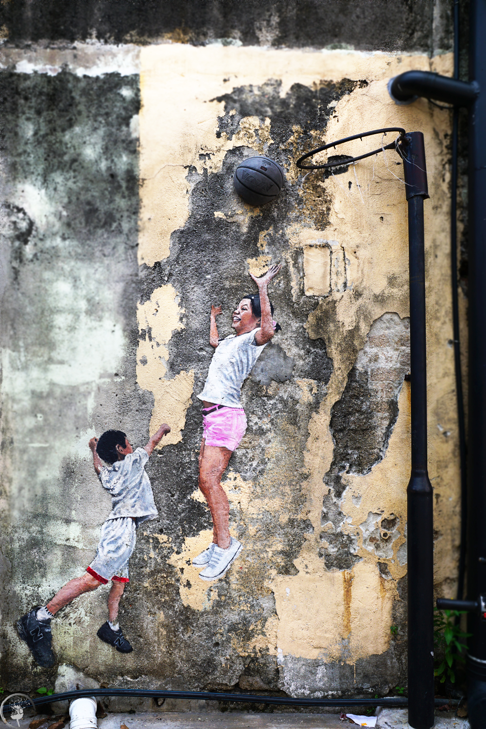 Children Playing Basketball, Penang