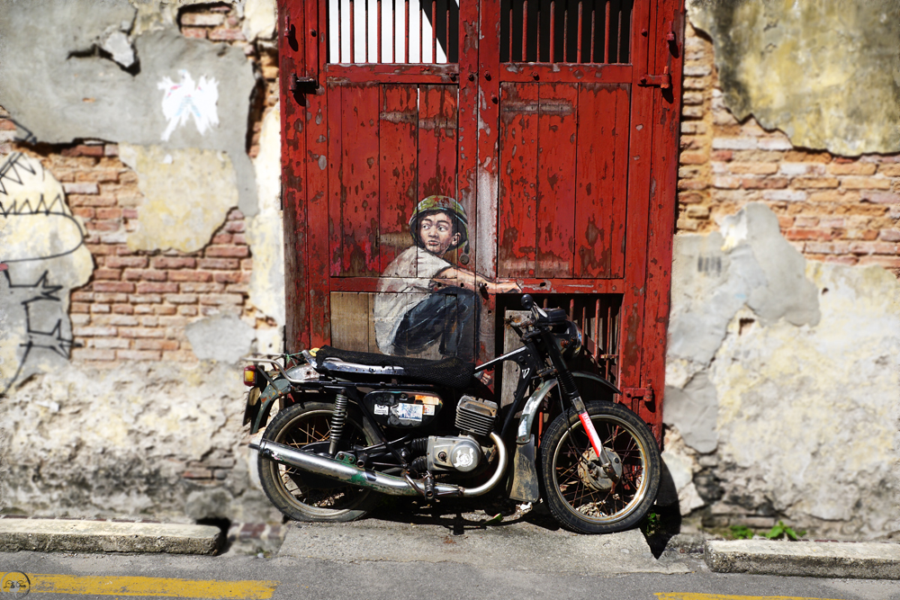 Boy on a Bike, Street Art in Penang