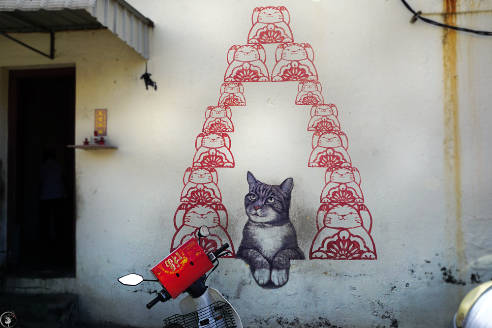 Penang Street Art, The Fortune Cat