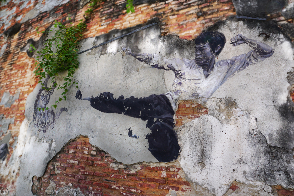 Penang Street Art, The Real Bruce Lee Would Never Do This