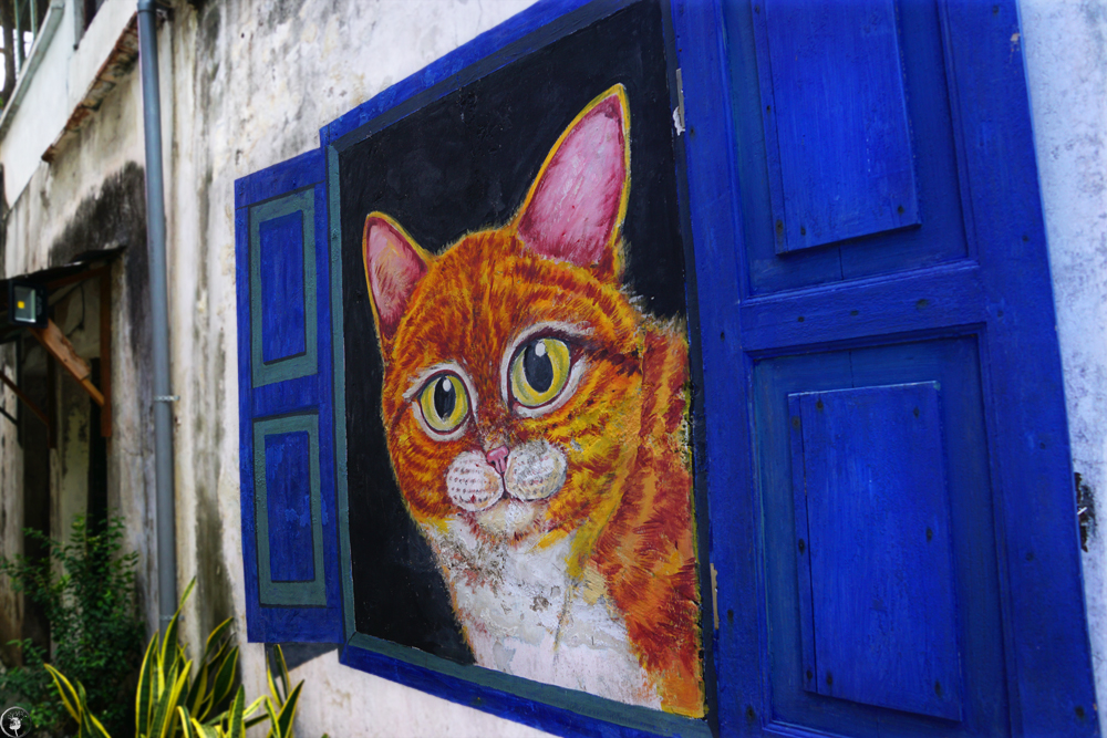 The Cat from The Window, Penang, Street Art
