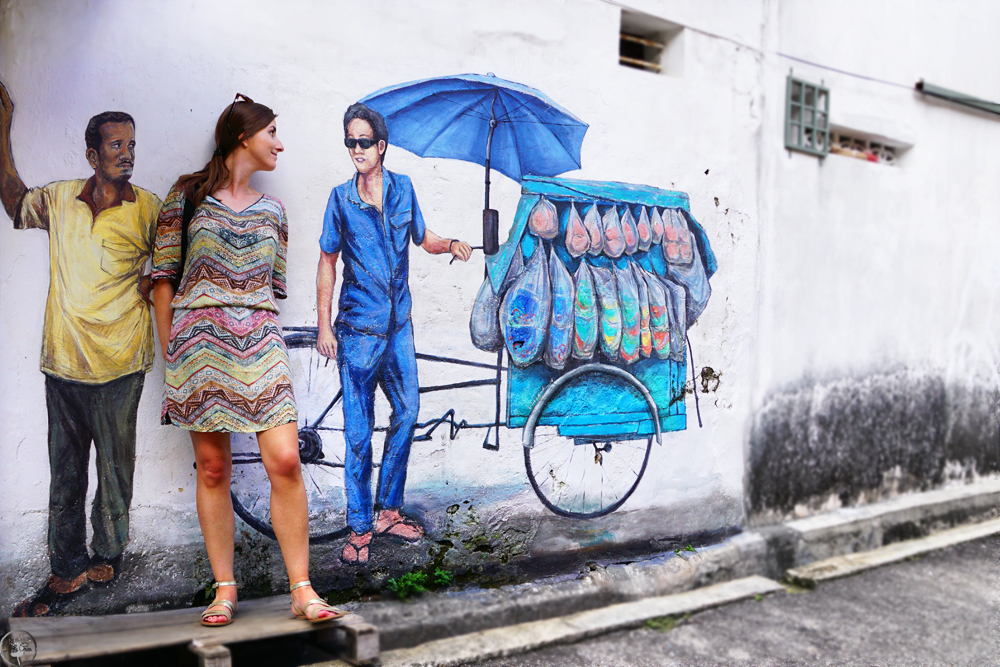 The two Gentelmen and I, Penang, Street Art
