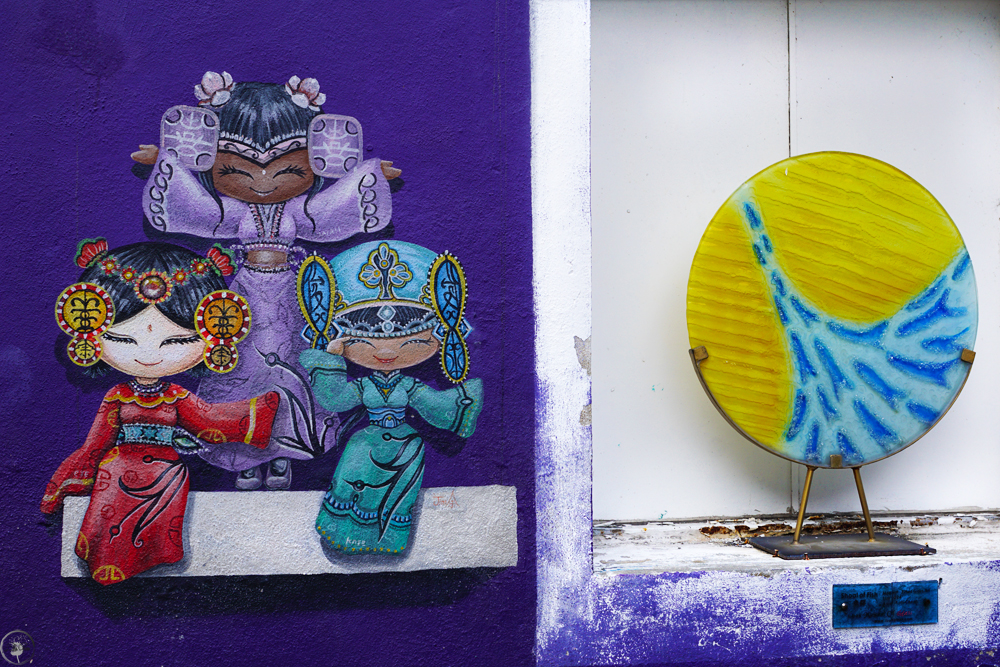 Three Girls Street Art, George Town