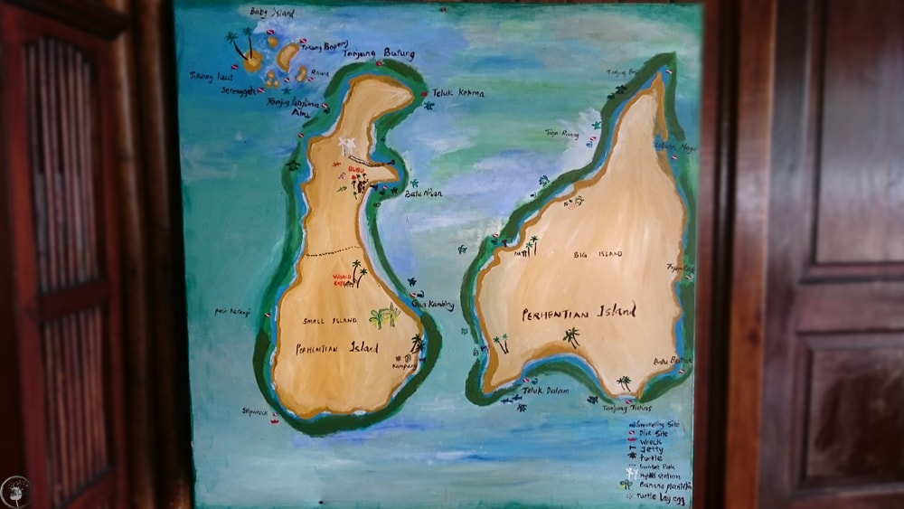 Perhentian Islands, Map
