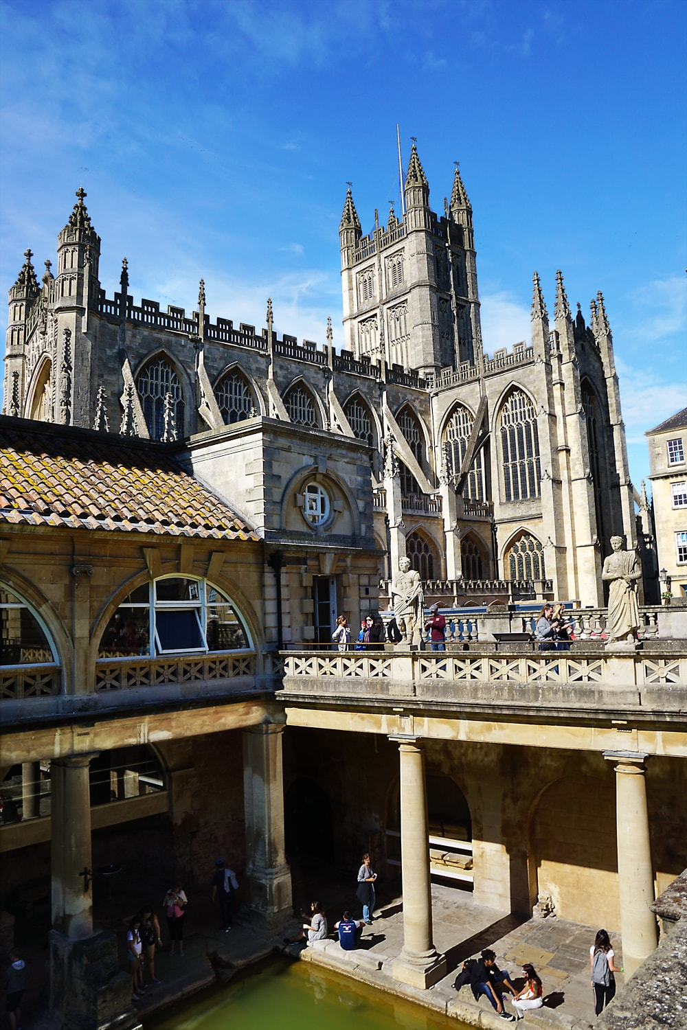 Bath Abbey View from the Roman Bath