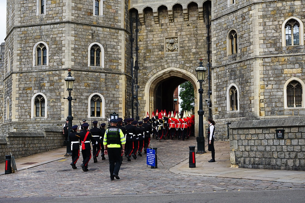 Changing of the Guards of Windsor Castle