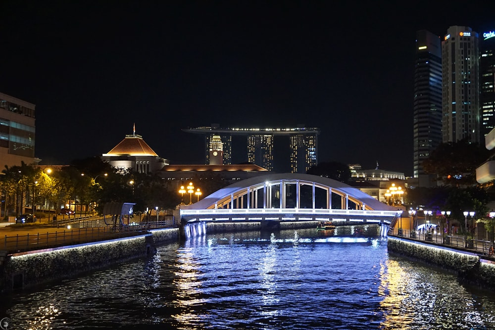 Elgin Bridge by Night, Singapore