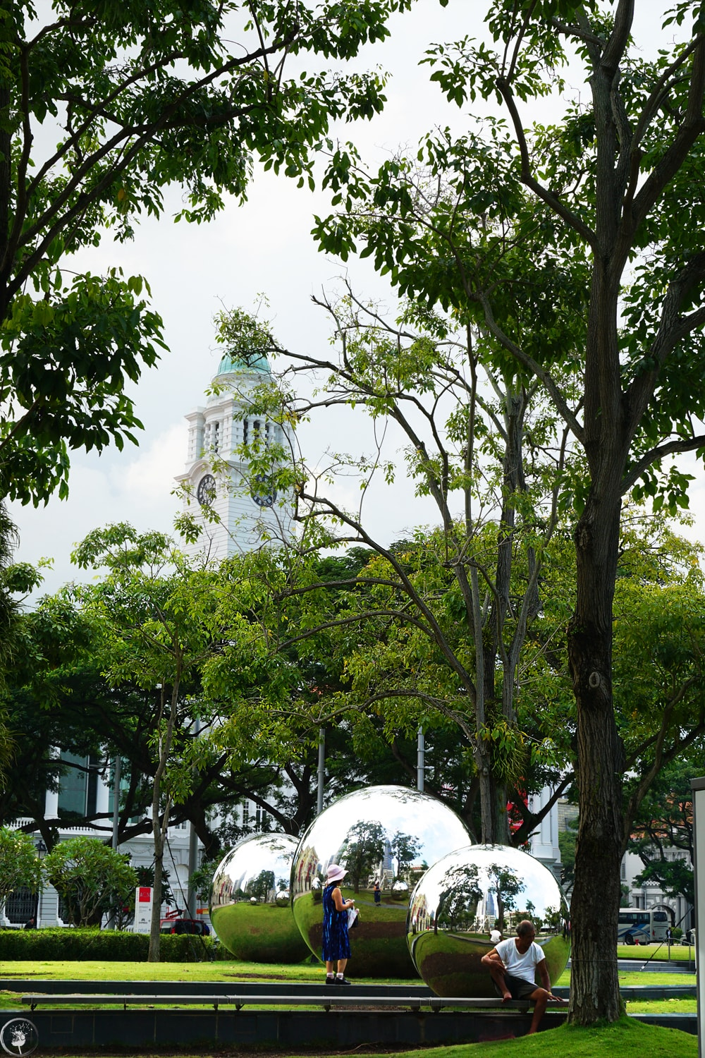 Mirror Balls in Empress Place in front of Asian Civilizations Museum