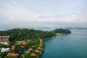 Singapore Cable Car, Sentosa Island from Above