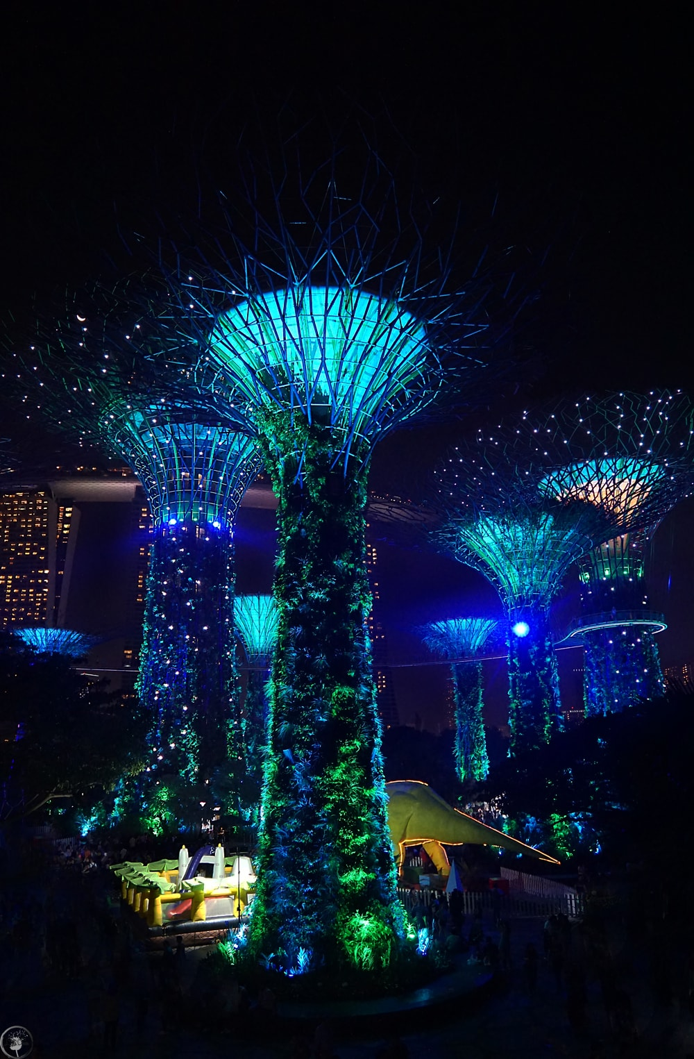 Supertrees light show, Singapore