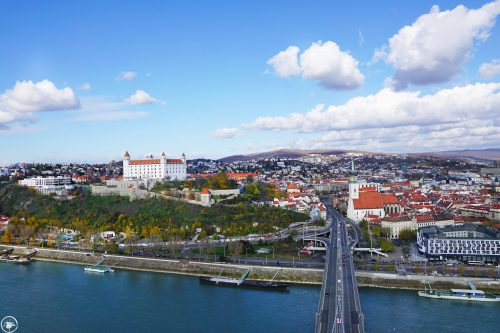 Bratislava Panorama from UFO Observation Deck