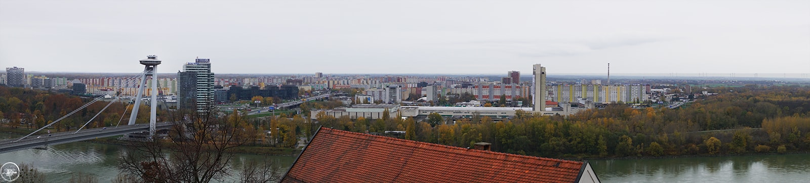 Panoramic View from Bratislava Castle