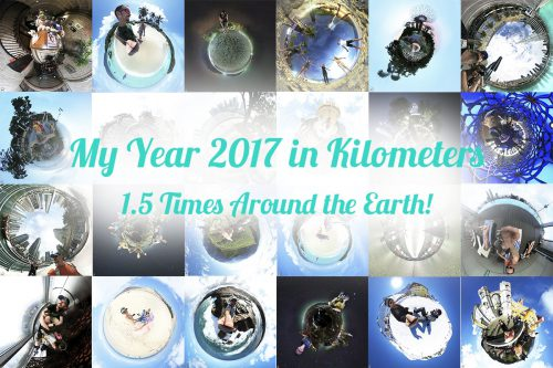 My 2017 in Kilometers ~ 1.5 Times Around the Earth!