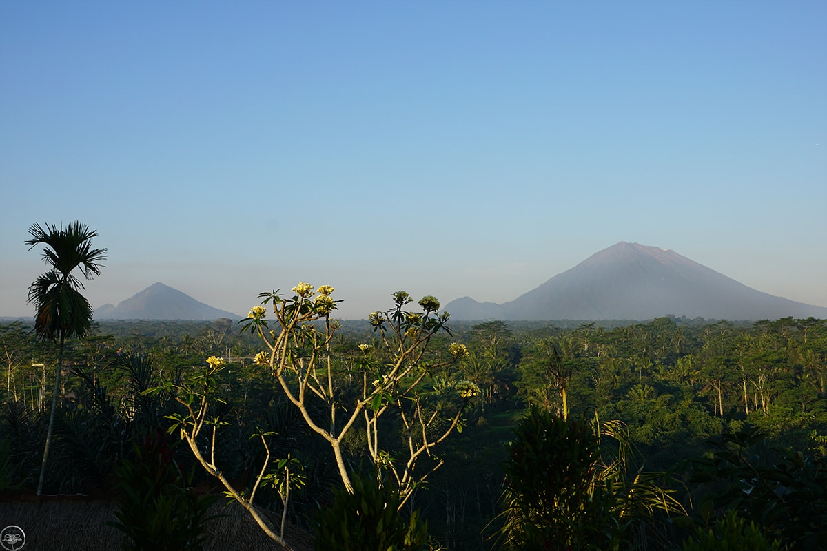 Mount Agung and Mount Batur
