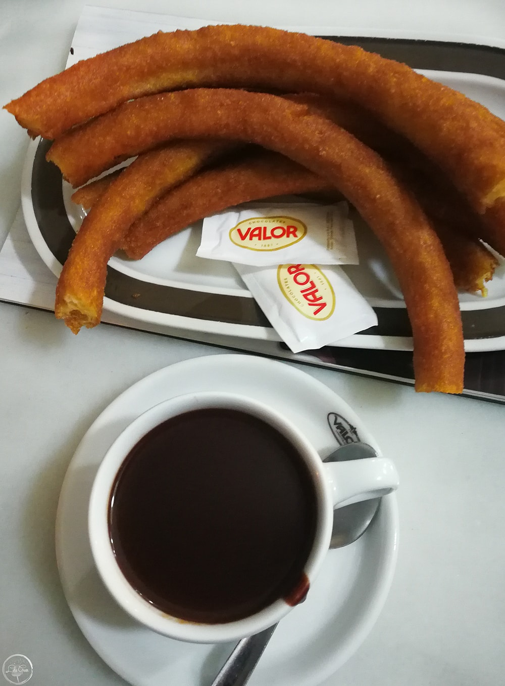 Churros and Valencian Hot Chocolate