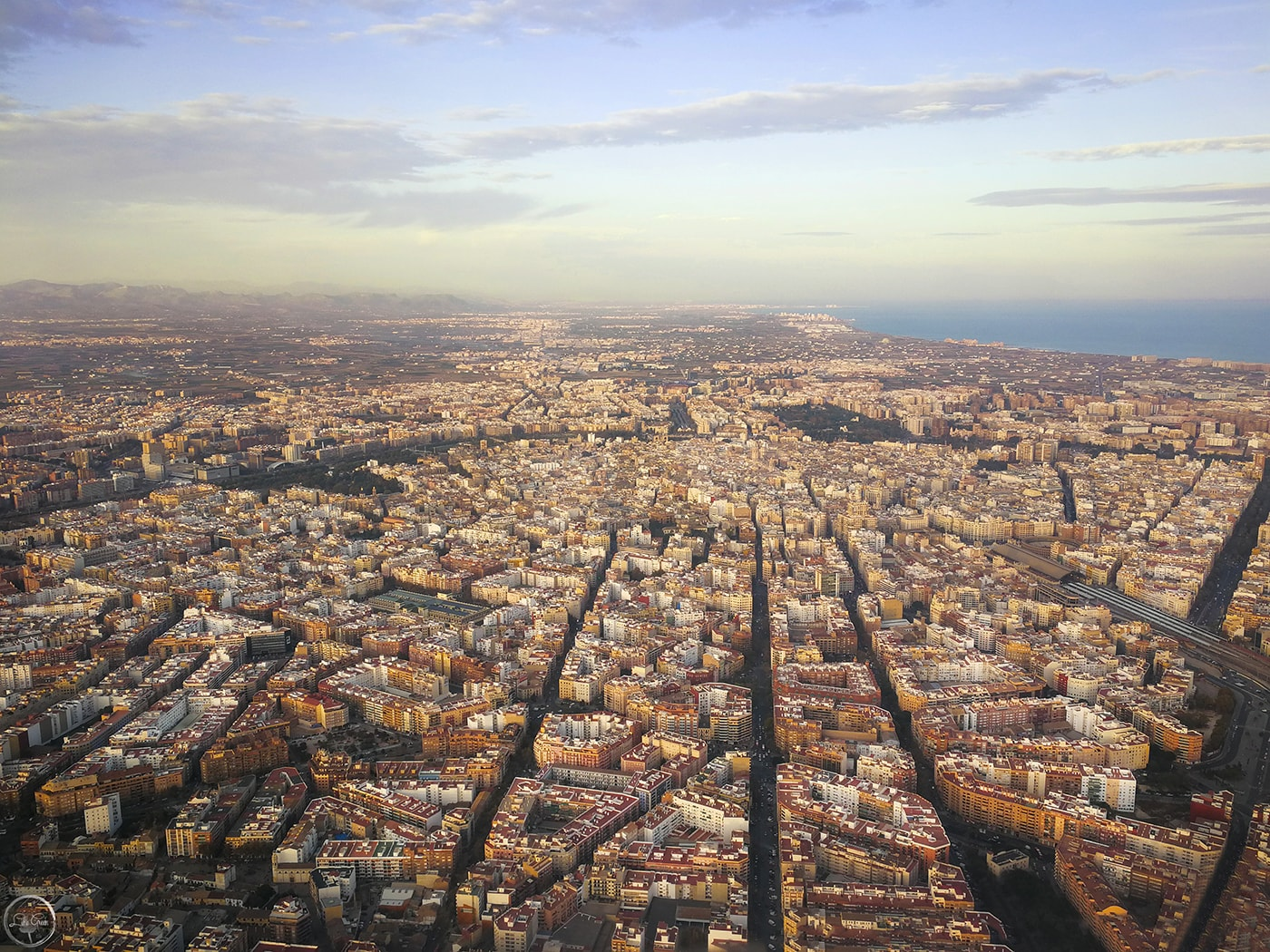 Valencia, Spain from above