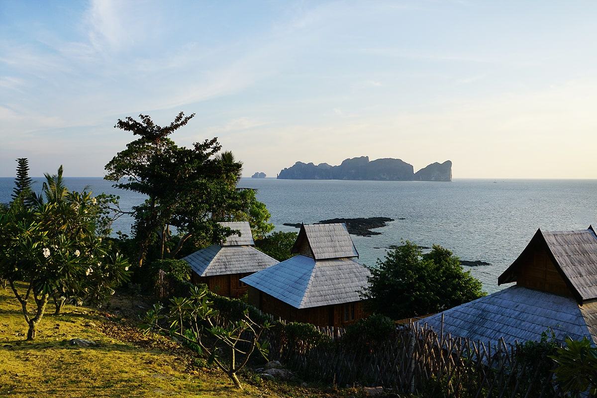 Sunrise from View from HIP Seaview Resort @ Phi Phi