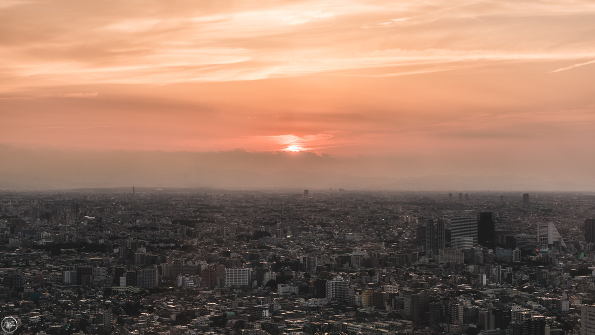 Sunset View from Tokyo Metropolitan Government Building