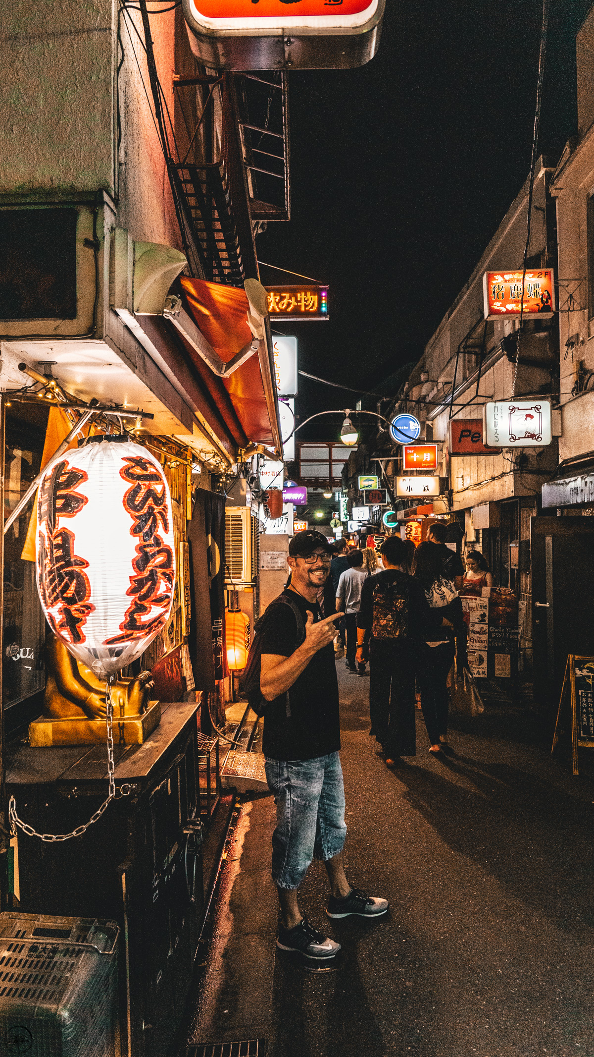 Going out at night in Tokyo
