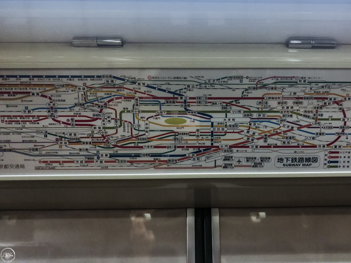 The Subway System in Tokyo is confusing