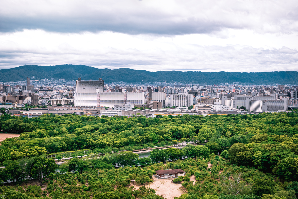 View from Osaka Castle