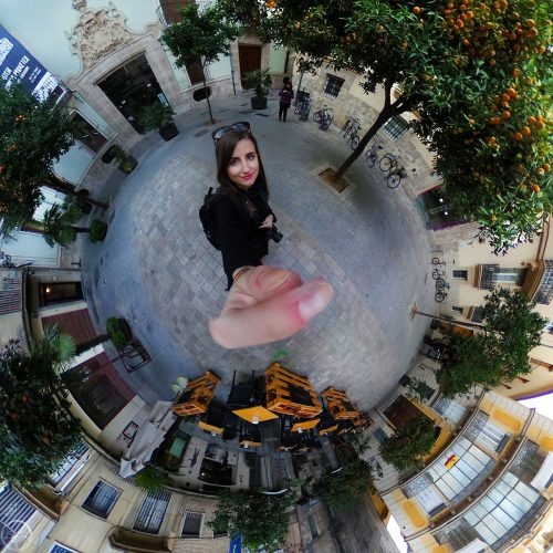360° In the Middle of Valencia City